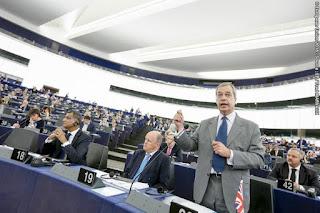 Nigel Farage, debate sobre el estado de la Unión