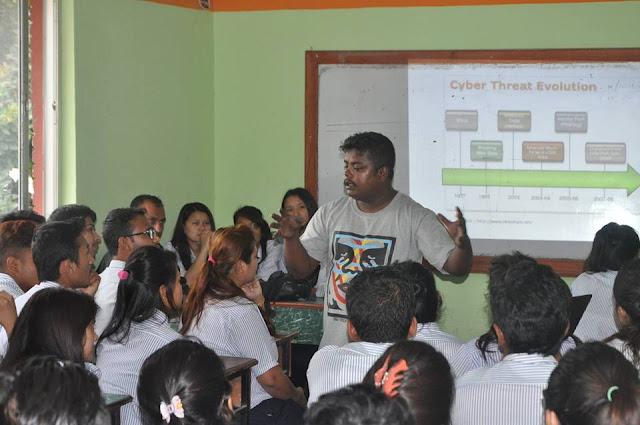 Mr. Bikram Khadka Giving Speech about Cyber Security