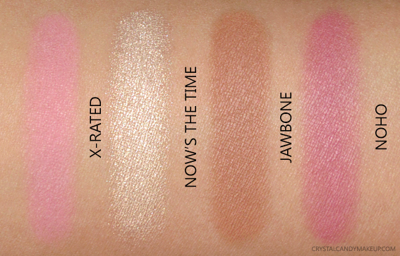 Basquiat Urban Decay Gallery Blush Palette Swatches