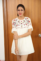 Lavanya Tripathi in Summer Style Spicy Short White Dress at her Interview  Exclusive 284.JPG