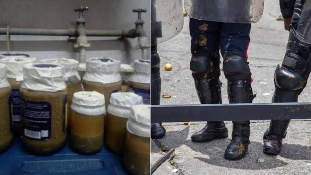 Opositores venezolanos usan 'armas bioquímicas' en protestas