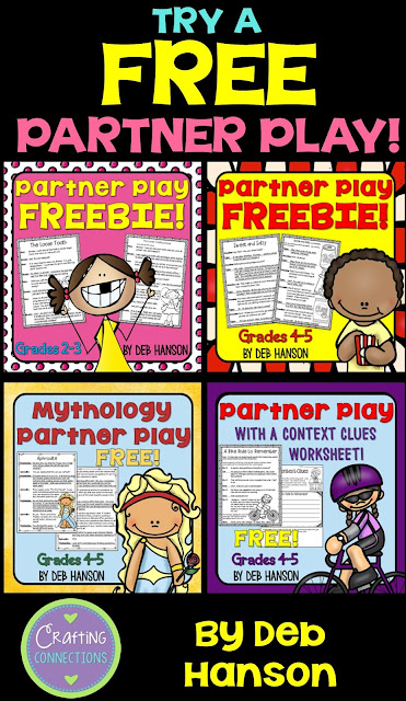 FREE partner plays for multiple grade levels! Enhance the reading fluency in your 2nd-5th grade classroom!