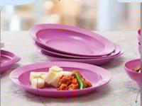 Piring Tupperware Purple Daisy Plate (4) Warna Ungu