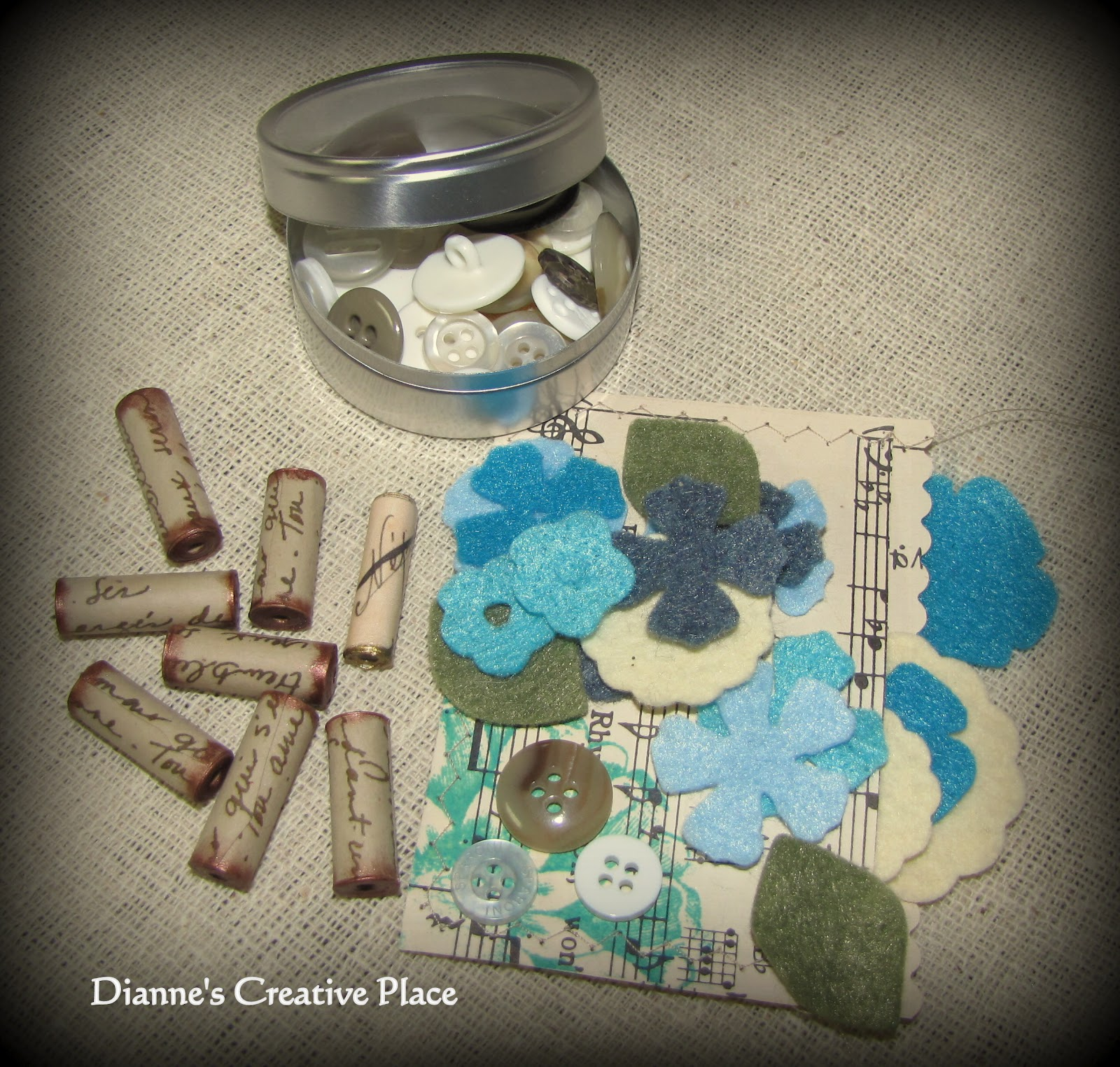 Dianne's Creative Place: Shabby Chic Craft Kit