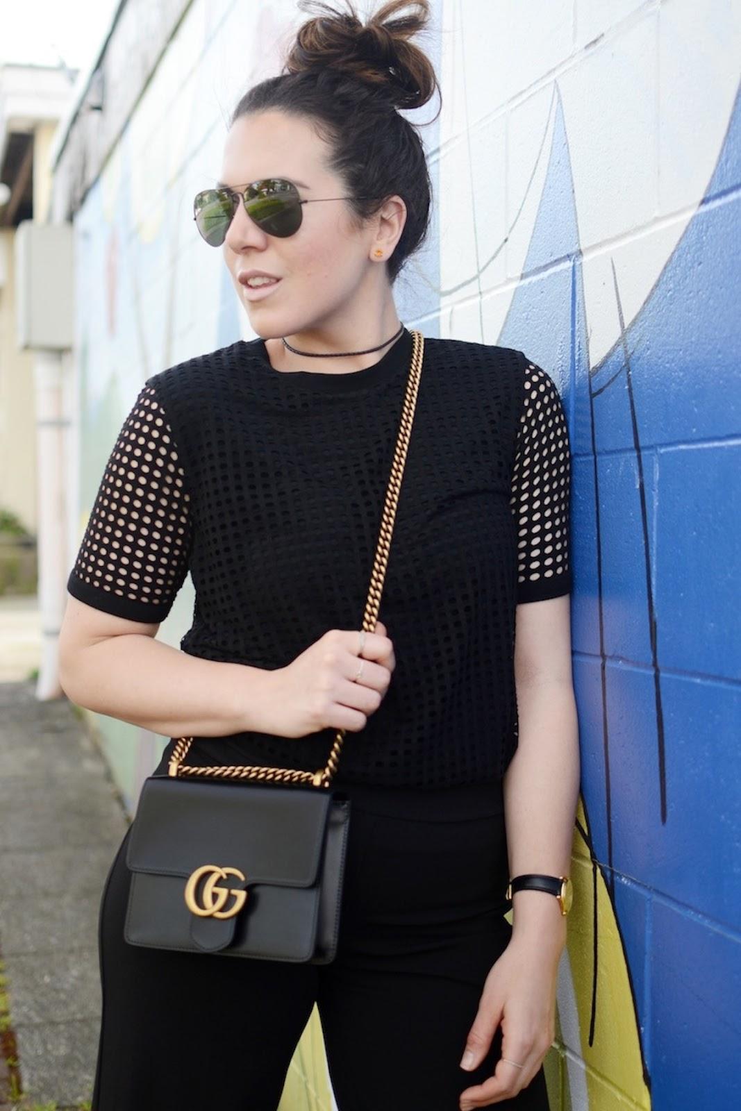 Bench mesh T shirt blogger vancouver le chateau culottes outfit