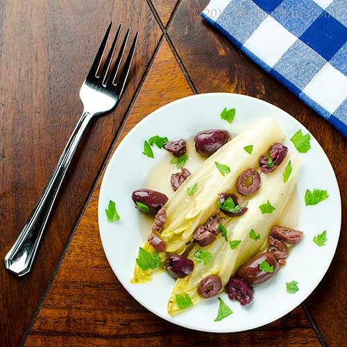 Belgian Endive Salad with Olives
