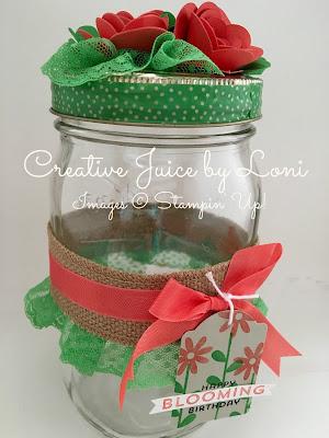 Bloomin' Gift Jar Tutorial