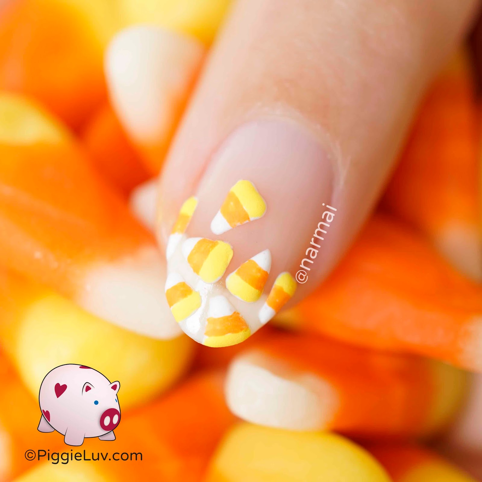 Piggieluv 3d candy corn nail art but a us friend was sweet enough to send me some so i could finally discover what it is why did i always think it was hard candy instead of soft prinsesfo Image collections