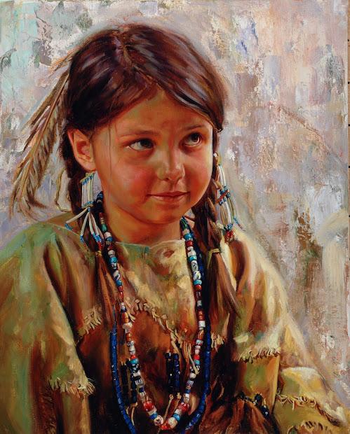 Native American Indian Woman Art