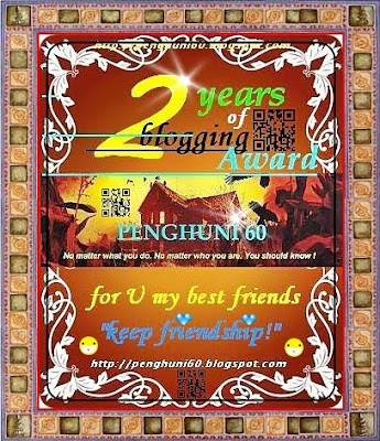 2 Years of Blogging Award Penghuni 60