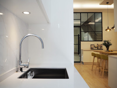 Modern Undermount Sink - Modern Scandinavian Kitchen