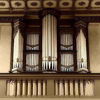 Tubos do órgão da Igreja Católica de Nossa Senhora da Piedade, em Novo Hamburgo
