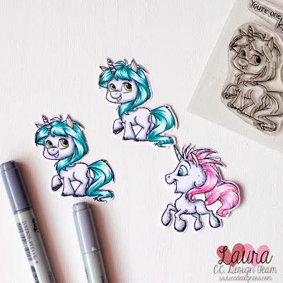 CC Designs Unicorns Copic Coloring