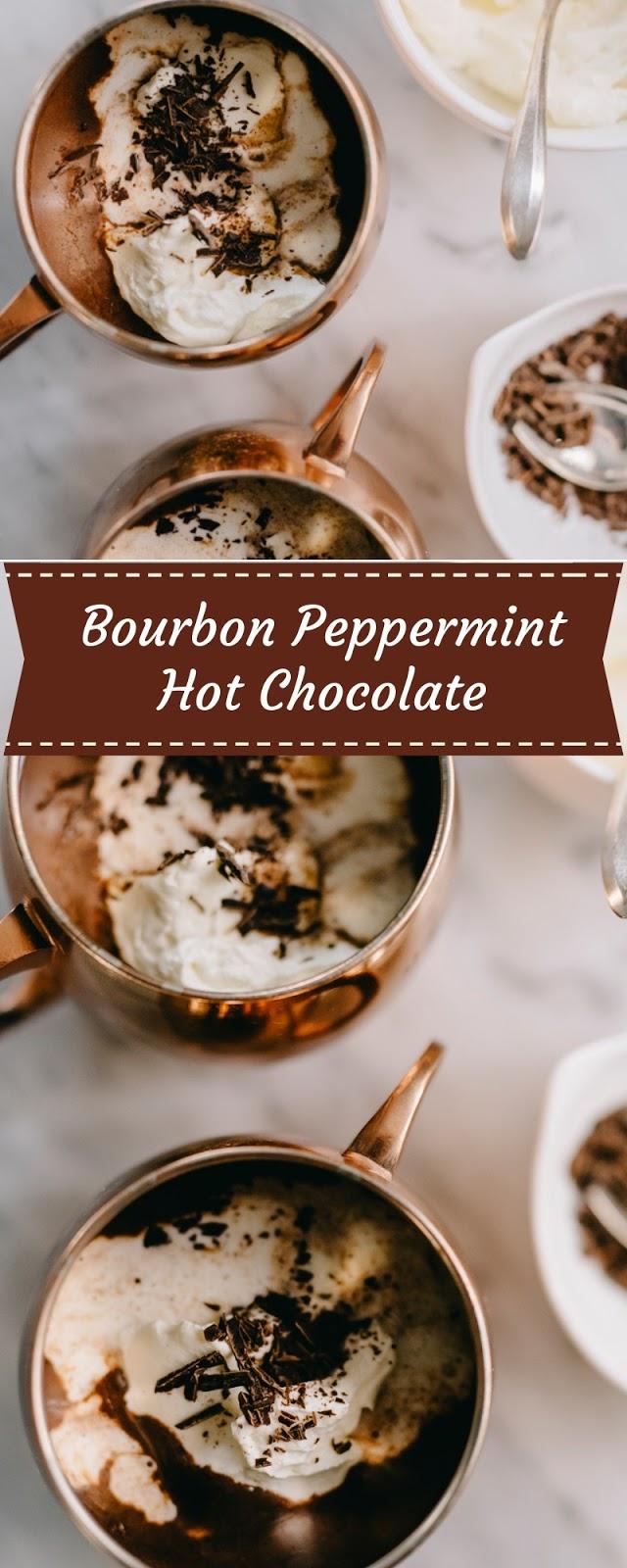 Bourbon Peppermint Hot Chocolate
