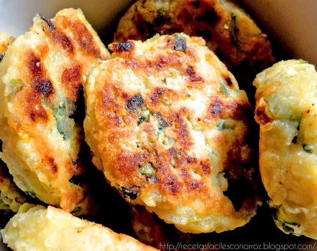 croquetas vegetarianas sin gluten sanas de arroz y zapallitos