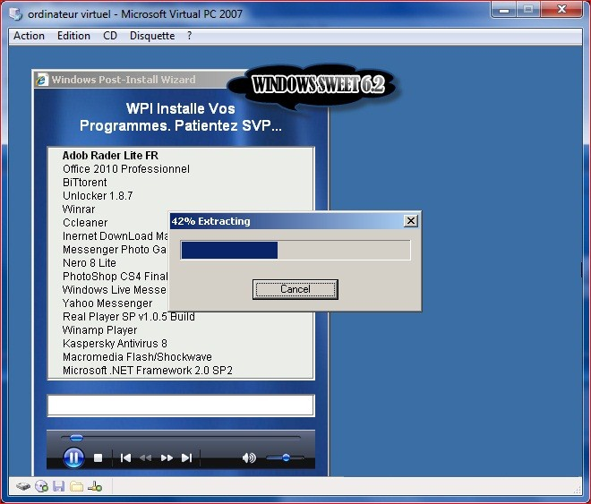 windows xp sweet 6.2 final franais startimes