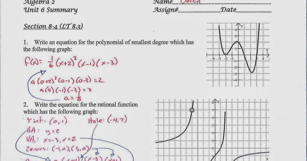 Mr. Doran's Algebra 2: Unit 6 Exam Review Materials
