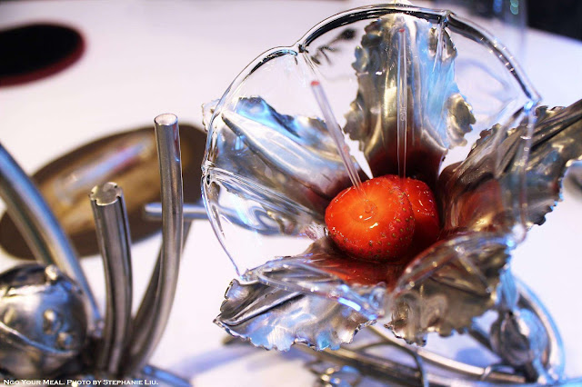 Strawberries at ABaC Restaurante in Barcelona