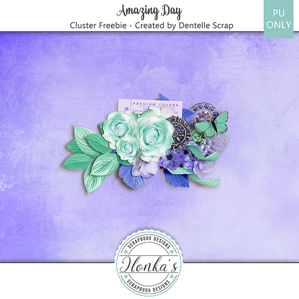 Amazing Day Cluster Freebie Created By Dentelle Scrap