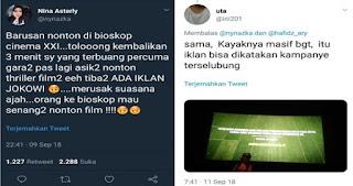 Iklan Jokowi Sukses Bangun Infrastruktur Tayang di BIOSKOP, Begini Tanggapan Warganet
