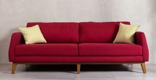 model sofa bed sorong merah