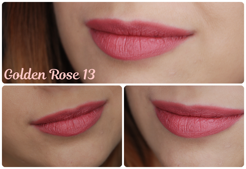 matte lipstick golden rose 13