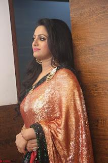 Udaya Bhanu lookssizzling in a Saree Choli at Gautam Nanda music launchi ~ Exclusive Celebrities Galleries 105.JPG