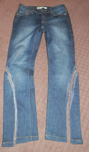 Letters To Hungary Diy Lace Up Jeans