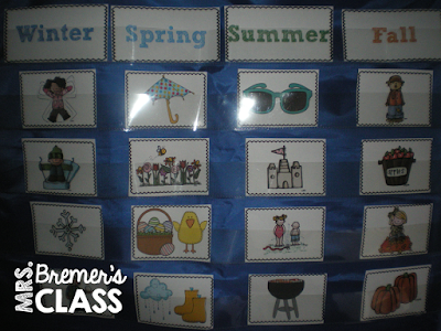 Four Seasons activities for Kindergarten and First Grade #seasons #sorting #kindergarten #1stgrade