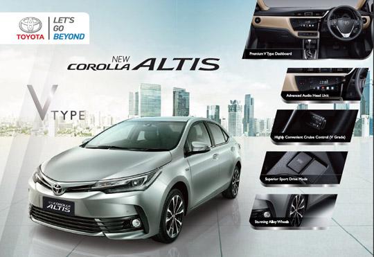 Brosur Toyota All New Corolla Altis Baru Tahun 2018