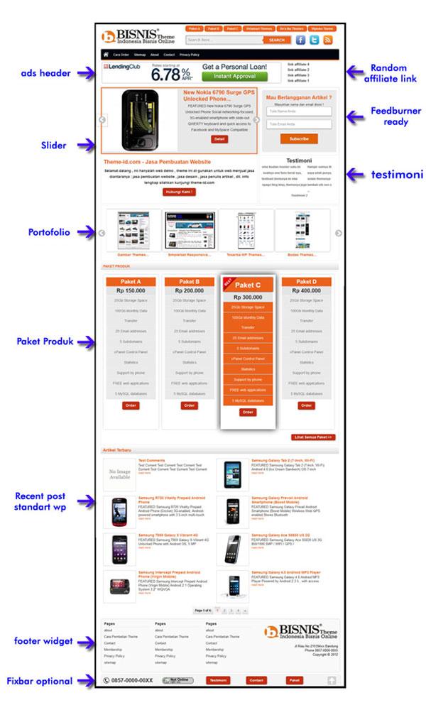 Download Gratis Theme Bisnis Dari Theme-id
