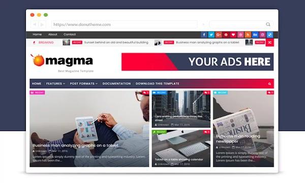 Magma Premium Blogger Template