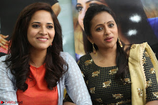 Actress Suma in Black Salwar Suit and Anusuya in orange Dress at winner movie press meet part 2 February 2017 (77).JPG