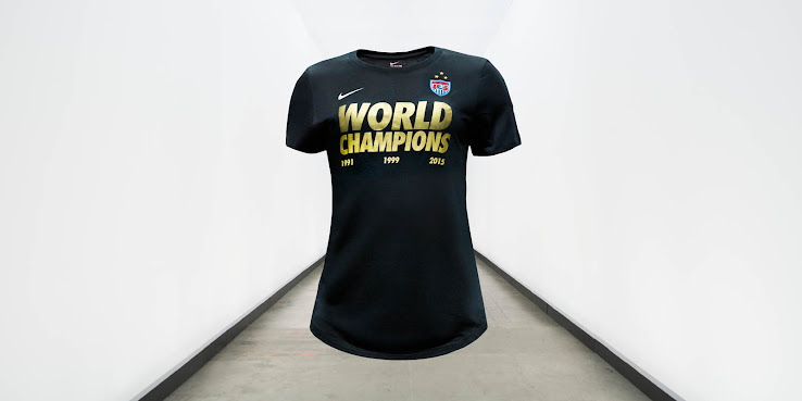 Kit 3 Women's Star World Champions 2015 Nike Cup Usa Shirts q08zU5