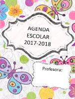 agenda escolar gratis de mariposas