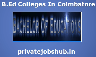 B.Ed Colleges In Coimbatore