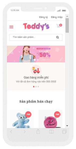 template bán hàng blogspot chuẩn seo hiển thị mobile dọc