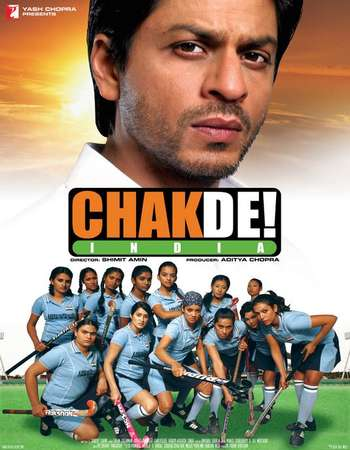 Poster Of Chak de! India 2007 Hindi 450MB BRRip 720p ESubs HEVC Watch Online Free Download Worldfree4u