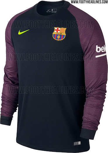 This is the new FC Barcelona 2016-17 goalkeeper home shirt. cfa38332d