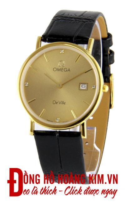 đồng hồ nam dây da omega giảm giá chính hãng
