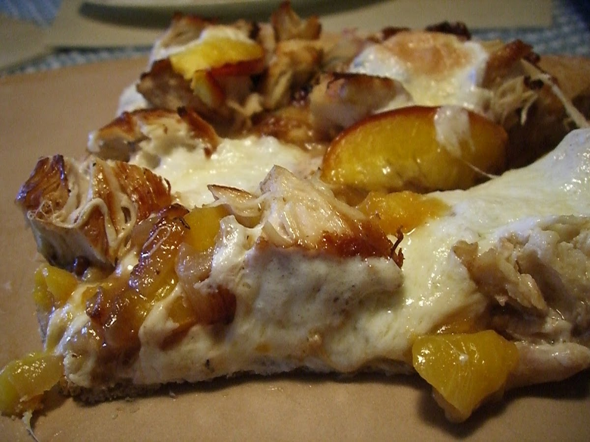 Chicken Nectarine Pizza with Balsamic Glaze