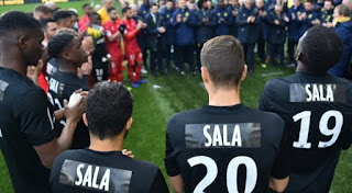 Nantes, where Sala spent four seasons, wore black shirts with the name 'Sala' stuck to their back.