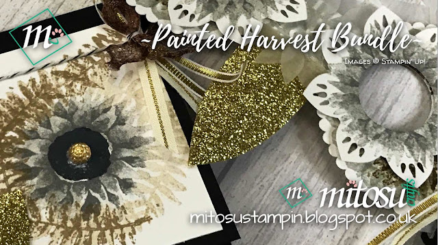 Stampin' Up! Painted Harvest & Leaf Punch SU Card and Mask Idea order craft supplies from Mitosu Crafts UK Online Shop