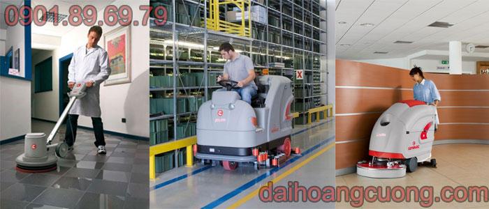Những loại máy lau sàn công nghiệp thường thấy