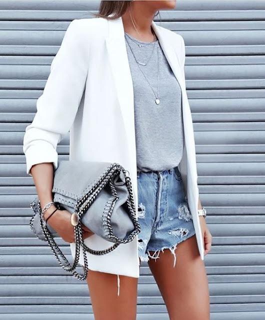 White blazer fashion trend street style