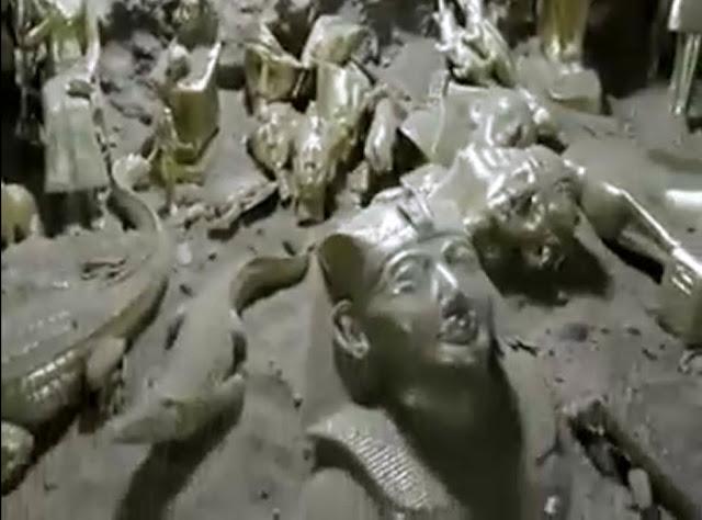 مقصورة فرعونية تحت منزل مزارع بسوهاج