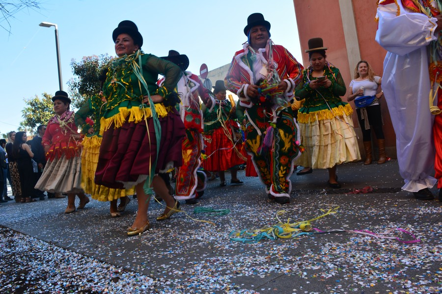 gros plans danseurs Carnaval Barceloneta