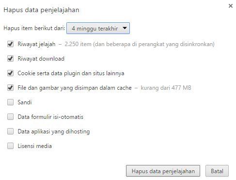 hapus riwayat google