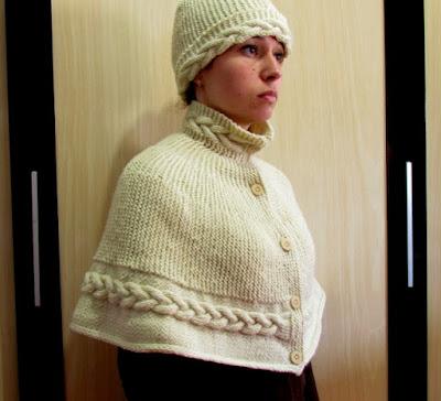 Poncho em trico