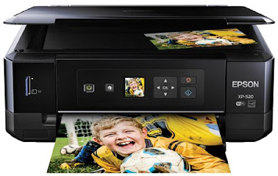 Wireless Color Photo Printer amongst Scanner too Copier Epson Expression Premium XP-520 Driver Downloads